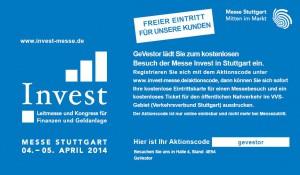 Einladung zur Anlegermesse Invest 2014